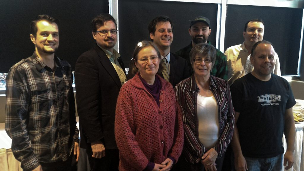 Nov. 26, 2016: Some of the members of the GMPs new Council. Front Row (l-r): Pamela Samford, Brenda Forman, James Peters. Back row (l-r): Michael Cardillo, David Nickarz, James Beddome, Dirk Hoeppner, John Redekopp