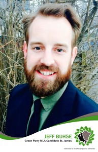 Jeff Buhse | St. James candidate for the Green Party of Manitoba