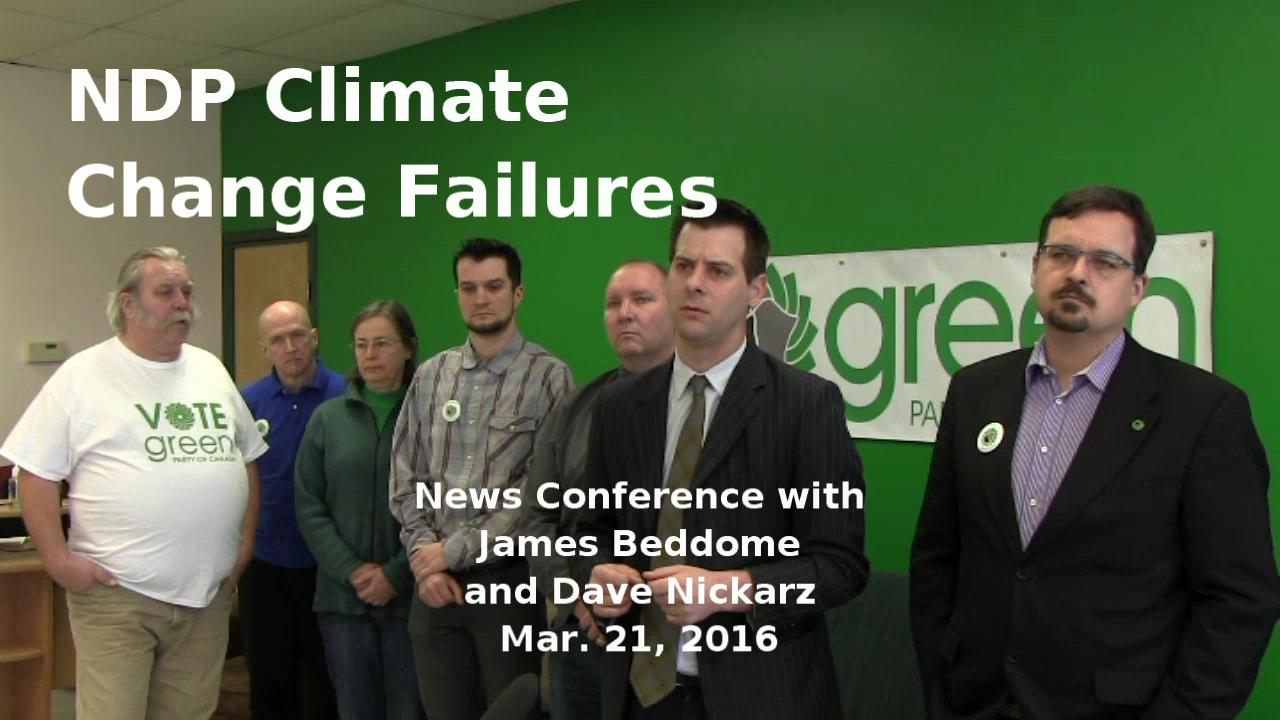 Manitoba NDP Climate Change Failures